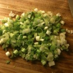 diced green onions