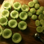 creating cucumber cups