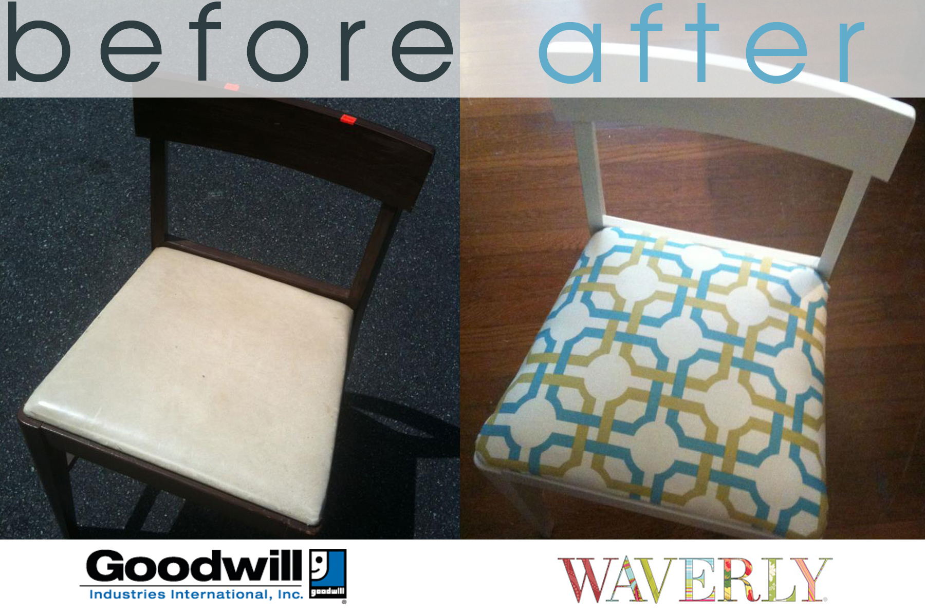 DIY: Drab to Fab Goodwill Makeover – Waverly Style!