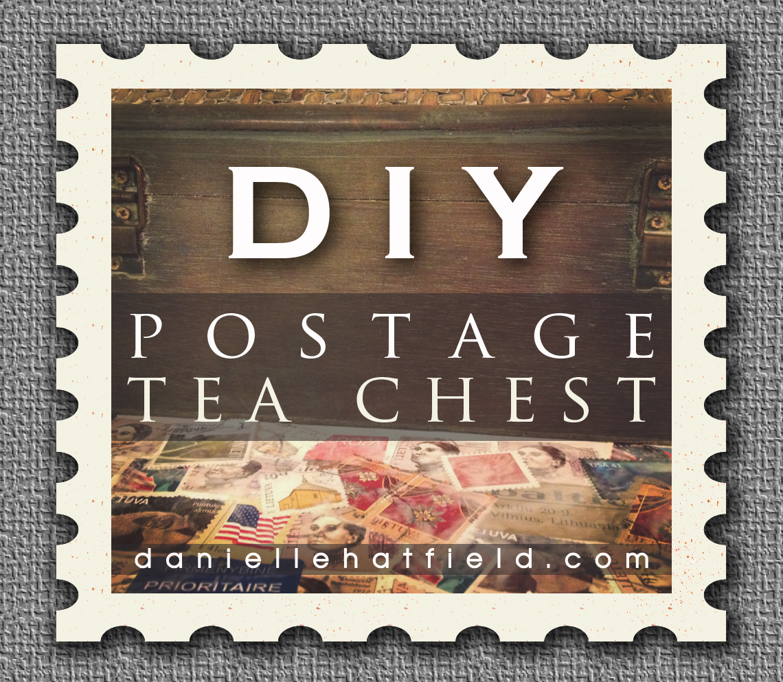DIY : Postage Covered Tea Chest