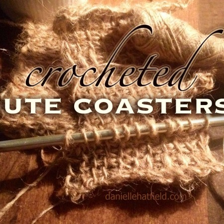 DIY: Jute Coasters using the Crochet Afghan Stitch