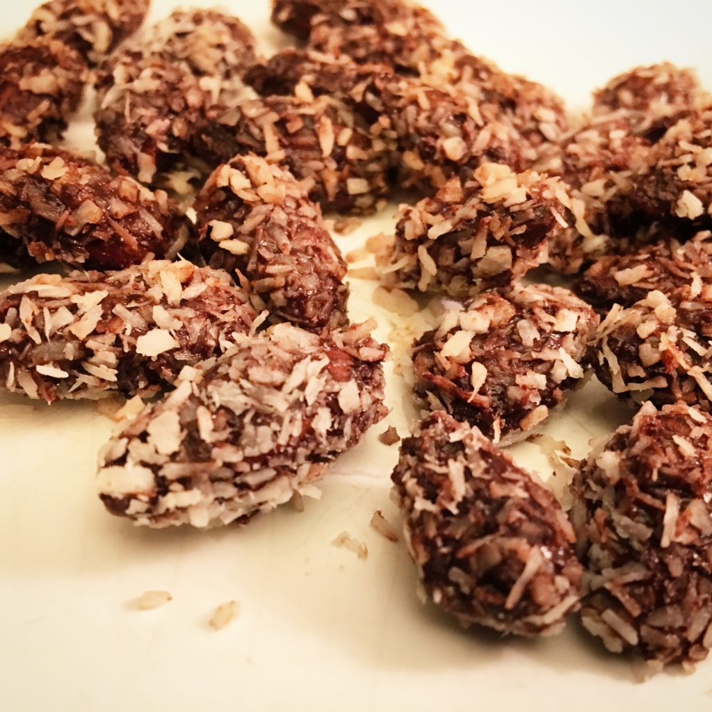 Chocolate and coconut covered toasted almonds
